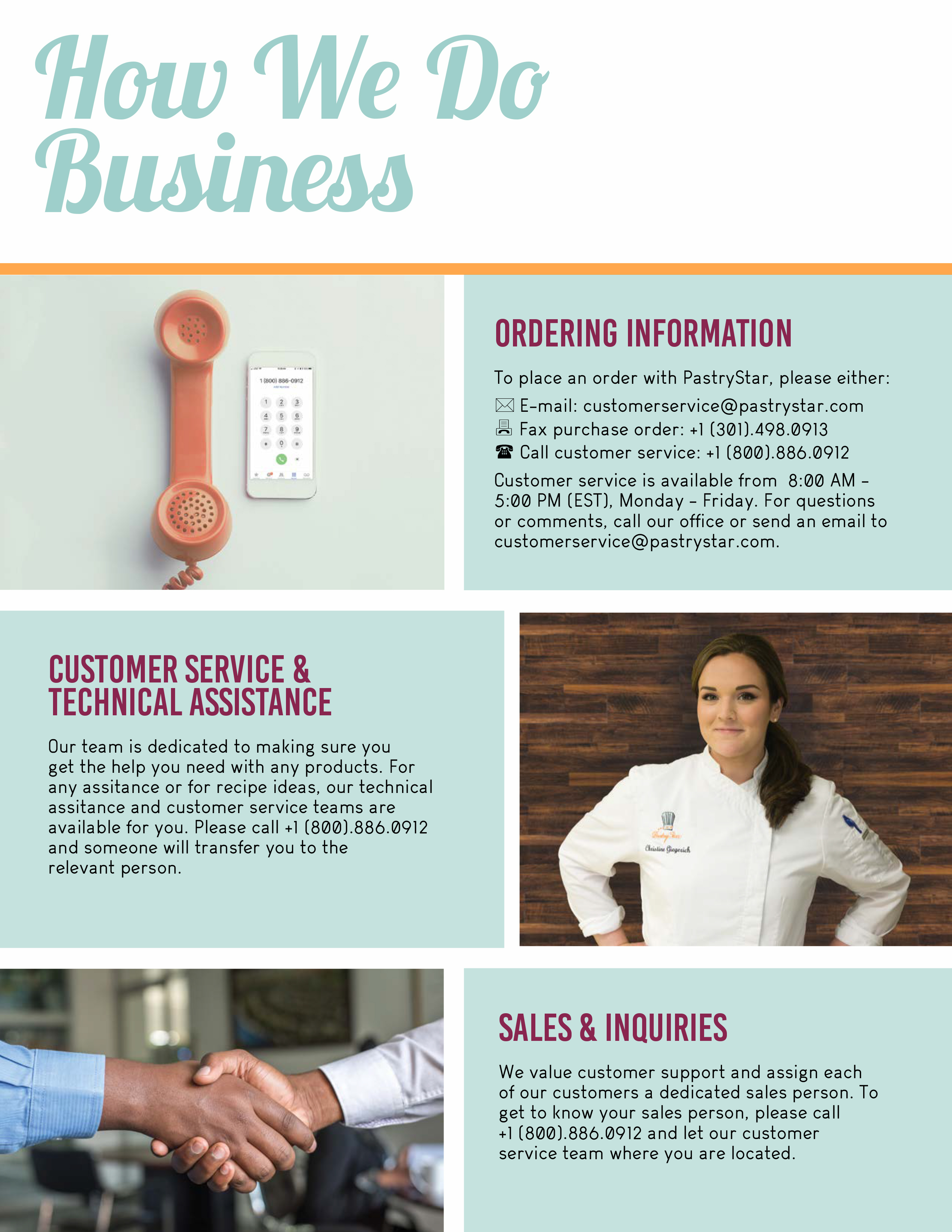 How We Do Business Page for About Us